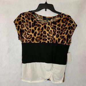 Vibe Sportswear Leopard Print Top. Juniors XS. NWT